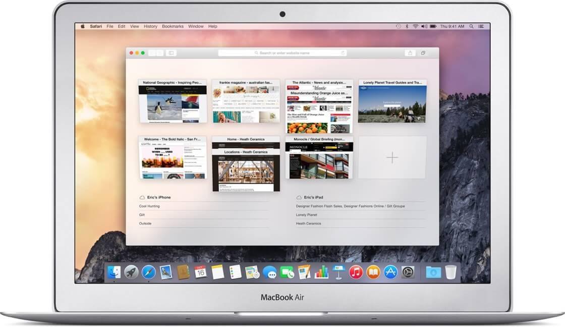 Браузер Safari для Mac