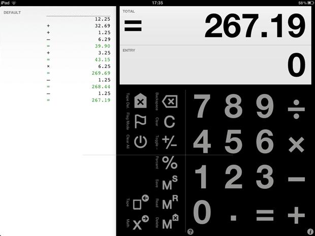 Digits - калькулятор для iPad