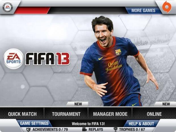 Игра FIFA 13 на iPhone