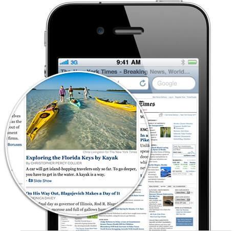 Дисплей нового iPhone 4 iOS