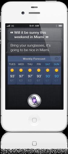 Голосовая помощница Siri для iPhone 4S