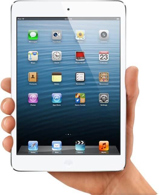 Черный и белый iPad Mini