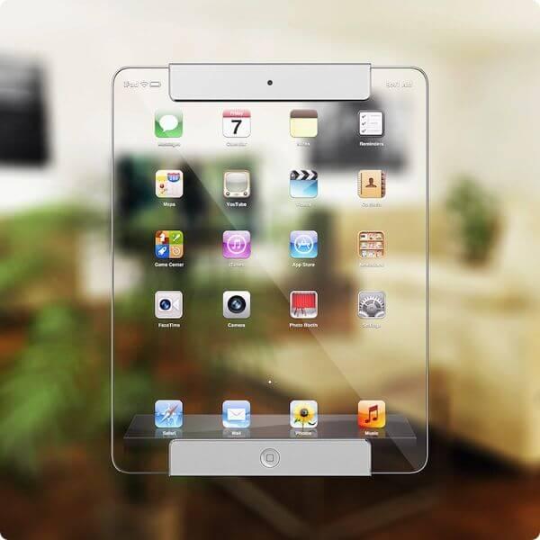 Концепт прозрачного iPad