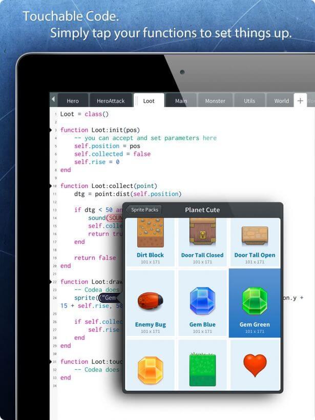 Codea Sprites iPad