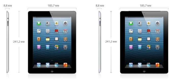 Технические характеристики iPad 2 - спецификации и размеры