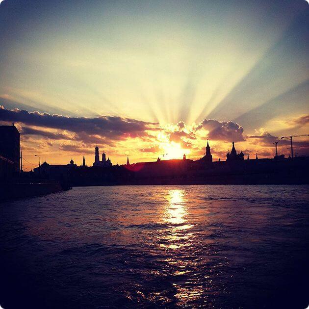 Закат солнца - природа iPhone фото
