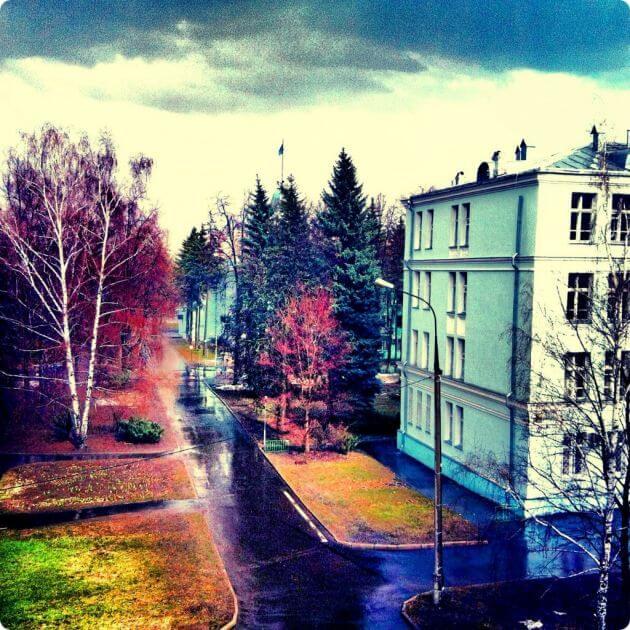 Город в осенних красках