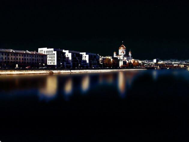 Ночь, река, город