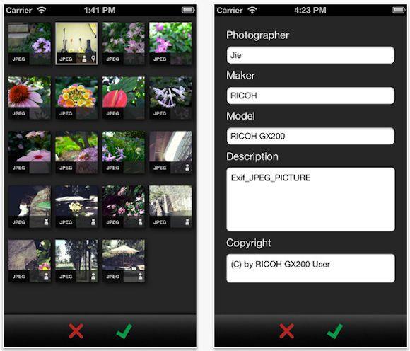 Скачать EXIF-fi для iPhone