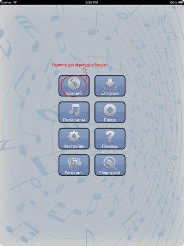 Скачать вконтакте музыку на iPad 1