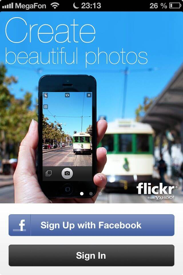 Flickr для iPhone и iPod Touch