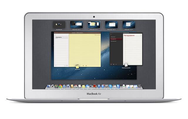 Mission Control в OS X