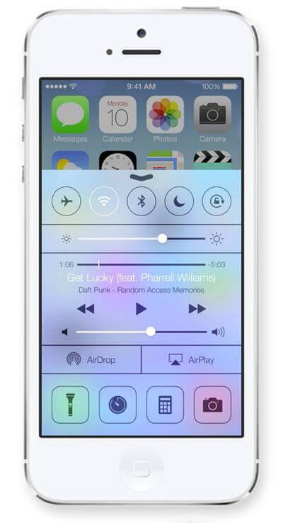 Control Center в iOS 7