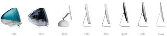 История модельного ряда моноблоков от компании Apple