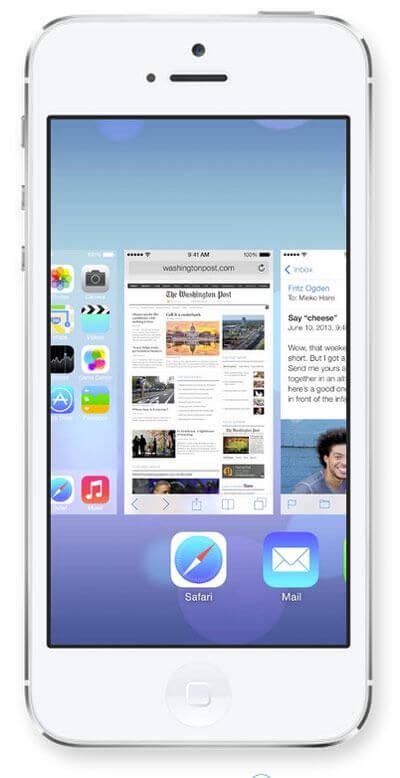 Панель многозадачности в iOS 7
