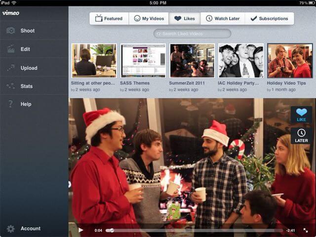 Скачать Vimeo для iPad