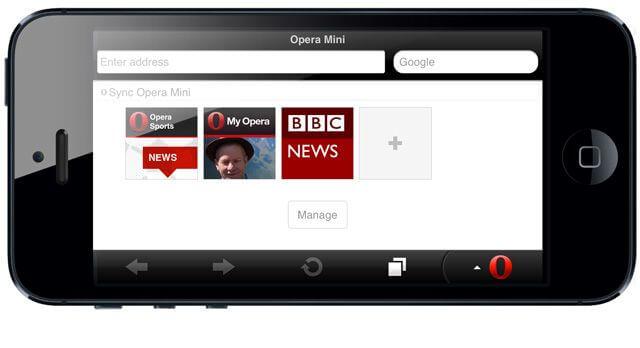 браузер Opera для iPhone