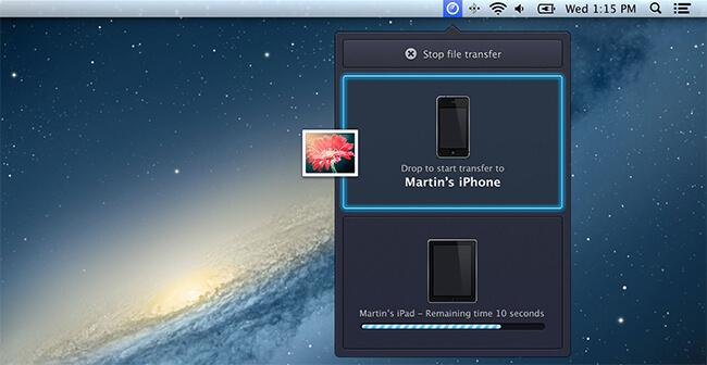 Instashare для Mac