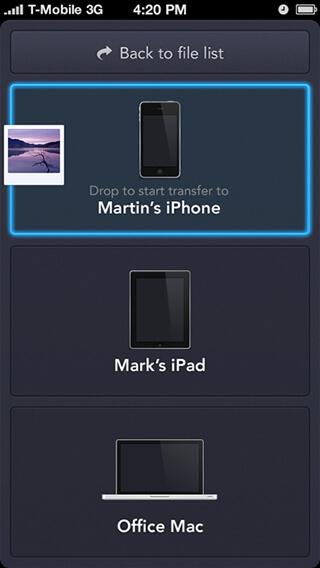 Instashare для iPhone, iPod Touch и iPad