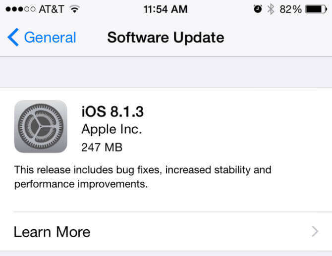 Что нового в iOS 8.1.3