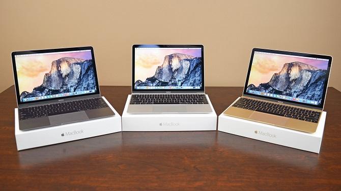 Цветовая гамма MacBook
