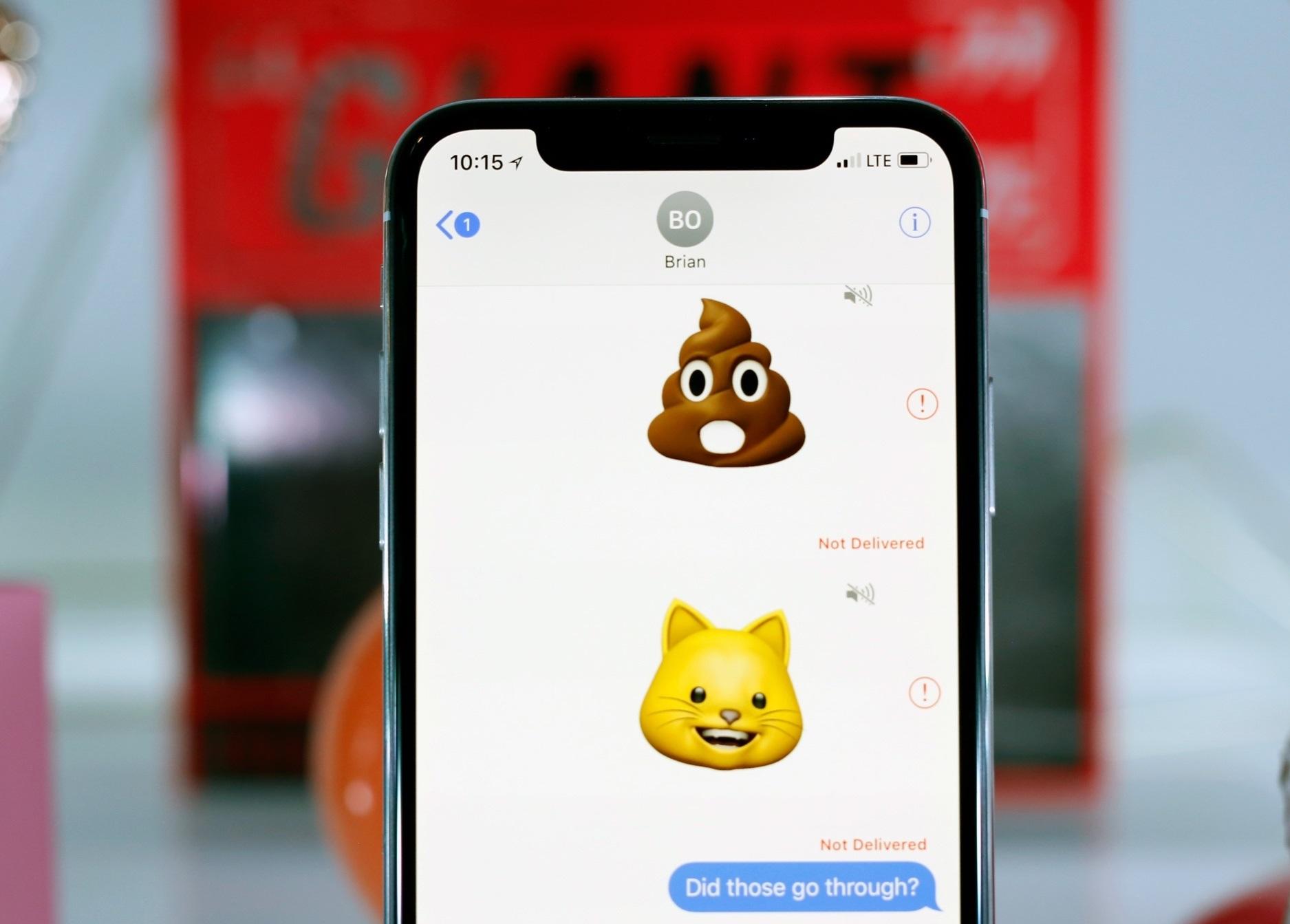 iphone x вид спереди
